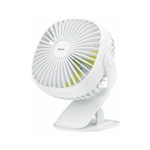 Baseus Box Clamping   Regulowany przenośny wiatrak wentylator biurkowy z klipsem 3 tryby + lampka nocna (6953156272989)