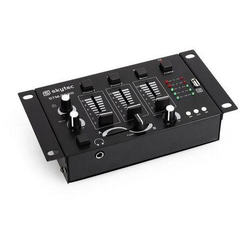 DJ Skytec STM-3020 3/2-kanałowy mikser wejścieMP3-USB