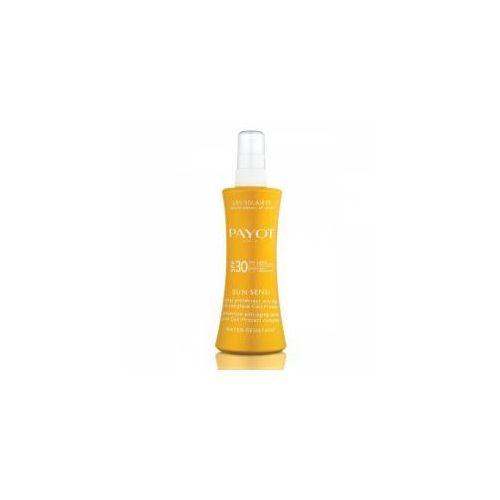 sun sensi, przeciwstarzeniowa mgiełka ochronna do ciała z filtrami spf30, 125ml marki Payot