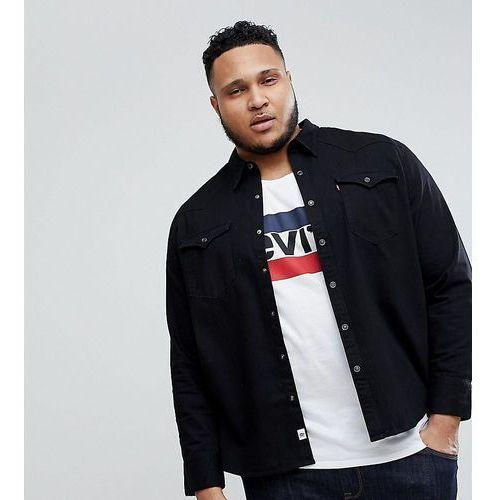 Levis Levi's big & tall barstow western shirt black wash - black