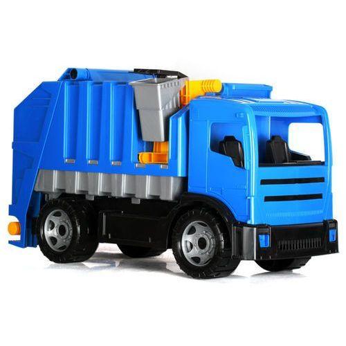 Import leantoys Śmieciarka lena niebieska karton