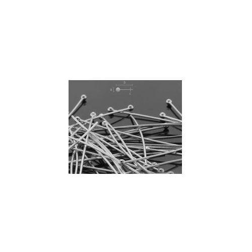 Szpilki drut 0,65 mm długość 50 mm srebro HP 0,65 50 mm, HP 0,65 50 MM