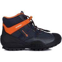 buty chłopięce atreus 27 niebieski/pomarańczowy marki Geox