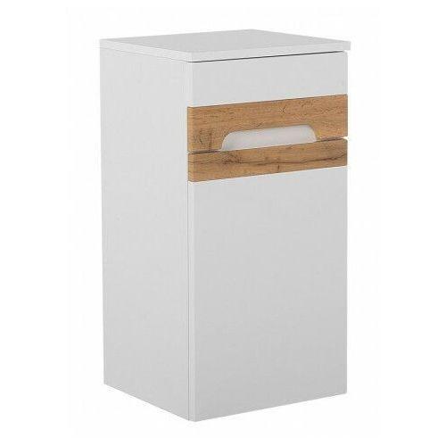 Producent: elior Podwieszany półsłupek łazienkowy - marbella 3x biały połysk