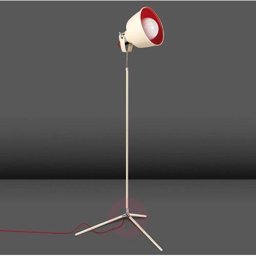 Leds-c4 Trzynożna lampa stojąca vintage postarzona biel