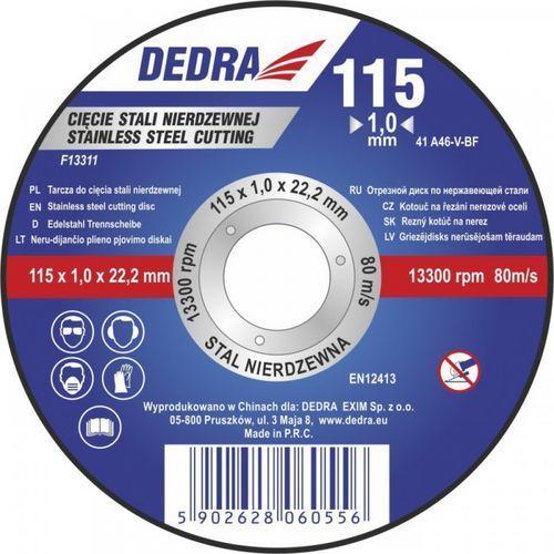 Tarcza do cięcia DEDRA F13312 115 x 1.5 x 22.2 do stali (5902628060600)
