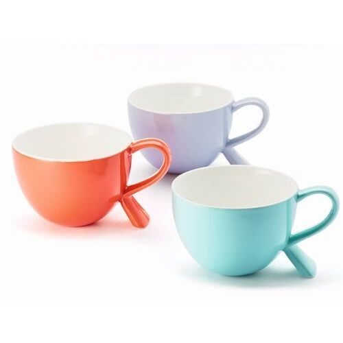 Kubek/miseczka z nóżką koralowy – eleganckie naczynie na kawę herbatę przekąskę, wyjątkowy design marki Cup&you cup and you