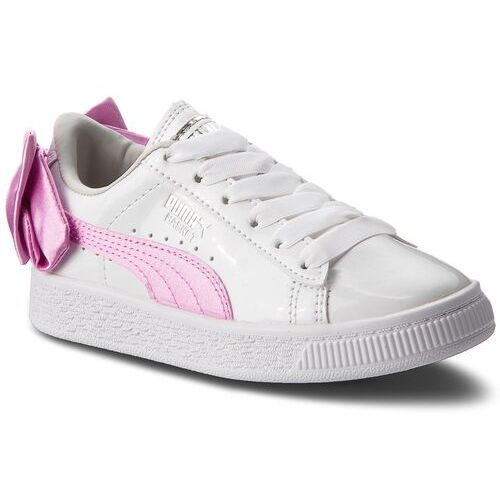 Sneakersy - basket bow patent ac ps 367622 02 puma white/orchid/gray marki Puma