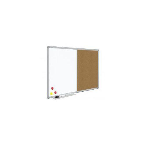 Allboards Tablica combi korkowa i suchościeralno-magnetyczna (rama aluminiowa) 90x60 cm