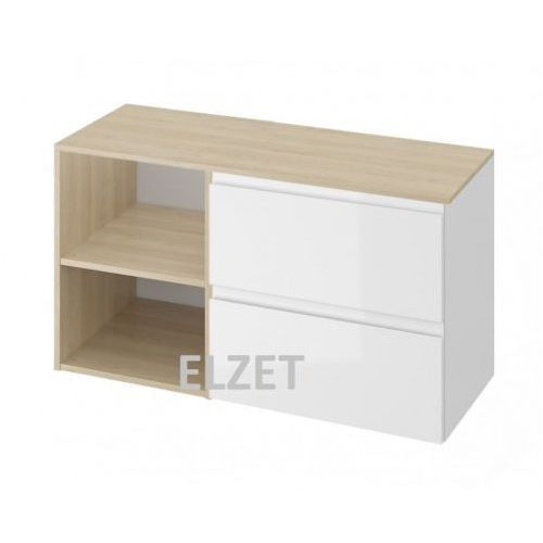 Cersanit szafka moduo biały połysk pod umywalkę nablatową + moduł otwarty + blat 100 s929-010+k116-019+s590-024