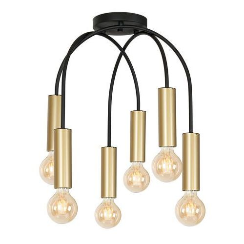 Luminex loppe 507 plafon lampa sufitowa 6x60w e27 czarny / złoty