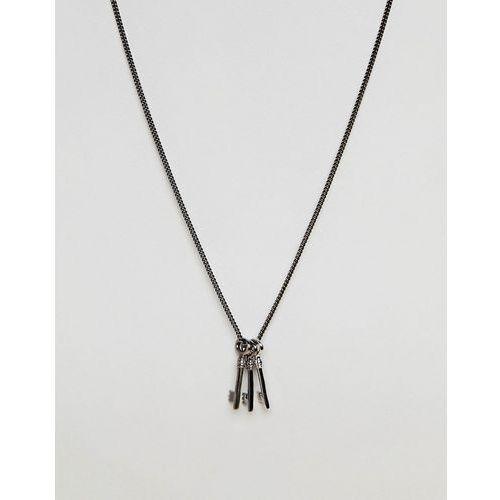 triple key necklace in gunmetal - silver marki Simon carter