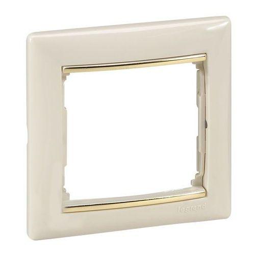 Ramka pojedyncza Legrand Valena 774151 pozioma kremowa/złoto, kolor kremowy