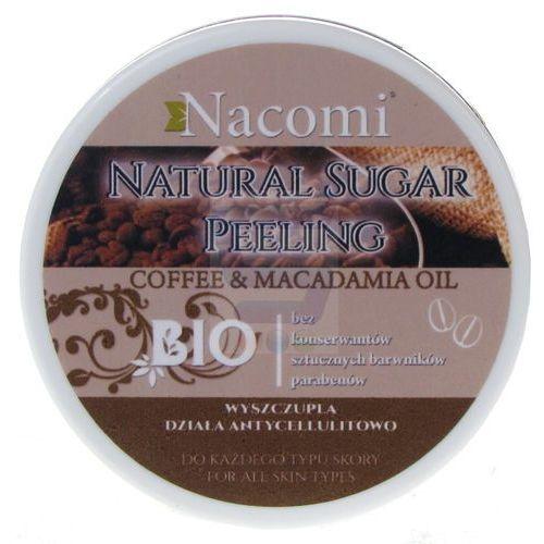 Peeling do ciała cukrowy - kawa z olejem macadamia, 100 ml - NACOMI, NACPE101