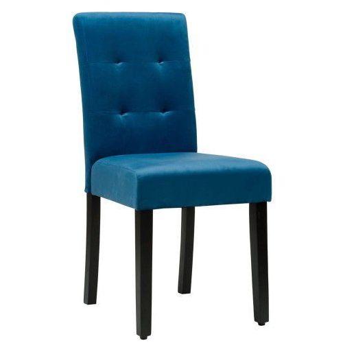Krzesło tapicerowane drewniane my8683 niebieski welur marki Meblemwm
