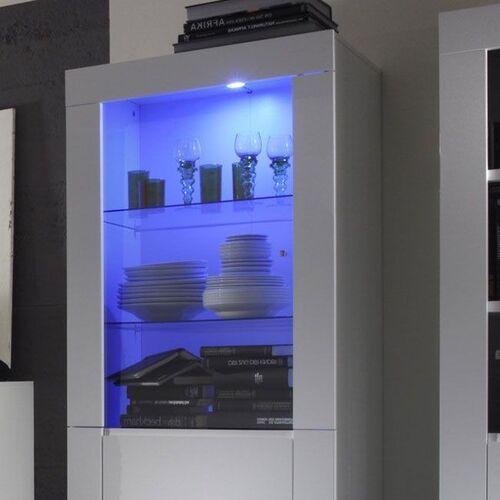 Fato luxmeble Amaretto oświetlenie halogenowe niebieskie do witryny