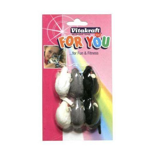 VITAKRAFT For You - zabawka dla kota myszka z futerka 6szt.
