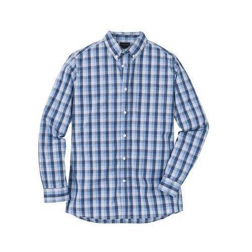 Koszulka polo z długim rękawem (2 szt.) bonprix szary melanż - kobaltowy, kolor niebieski