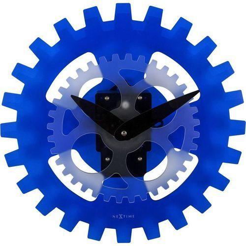 - zegar ścienny moving gears - niebieski marki Nextime