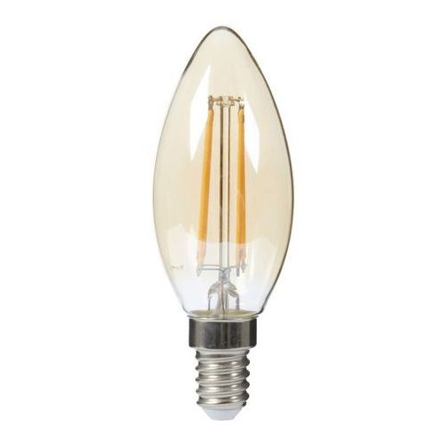 Diall Żarówka led filament gold c35 e14 4 w 250 lm przezroczysta barwa ciepła