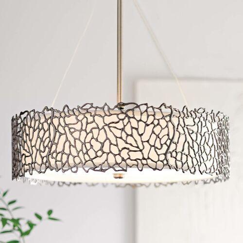 Lampa wisząca silver coral kl/silcoral/p/b - lighting - rabat w koszyku marki Elstead