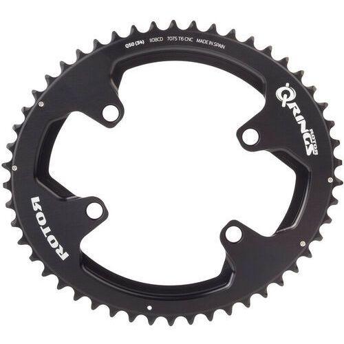 Rotor aldhu zębatka rowerowa 110x4 zewn. owalna czarny 52 zębów 2018 zębatki przednie (8434366009001)