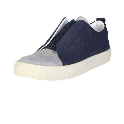 Męskie buty sneakersy gregorio granatowe marki Made in italia