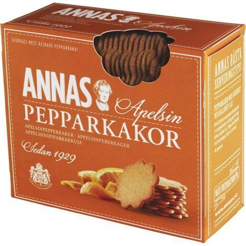 Annas Pepparkakor - Orange - oryginalne szwedzkie pierniki o smaku pomarańczowym - 300g
