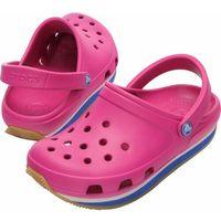 kids retro fuchsia sea blue różowo-niebieskie fuksja klapki dla dzieci różne rozmiary marki Crocs