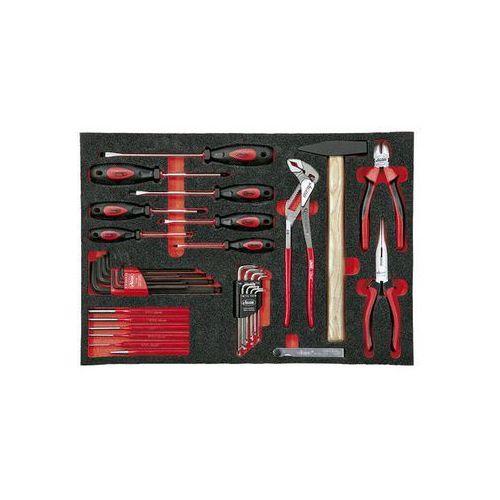 Zestaw narzędzi we wkładce z miękkiej gąbki,narzędzia ręczne