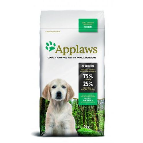 1 + 1 kg gratis! Applaws karma dla psa, 2 kg - Puppy Small & Medium Breed, kurczak
