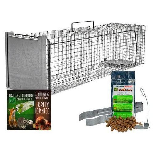 Pułapka na kuny, bobry, wydry, lisy i koty. żywołapka na kunę 102x29x31cm. marki Zielona łapka