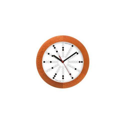 Zegar drewniany solid matma tarcza binarna