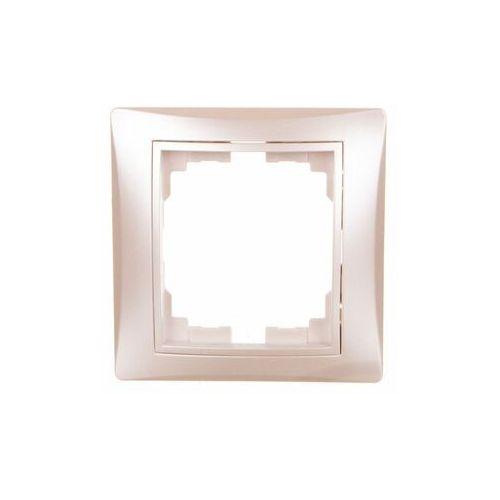 KANLUX DOMO 01-1460-030 perłowy biały Ramka pojedyńcza pozioma 24998 (5905339249982)