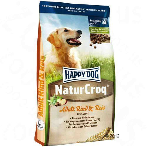 HAPPY DOG NaturCroq Rind & Reis 2x15kg