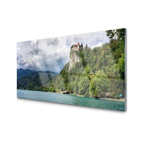 Tulup.pl Obraz akrylowy zamek w górach las krajobraz