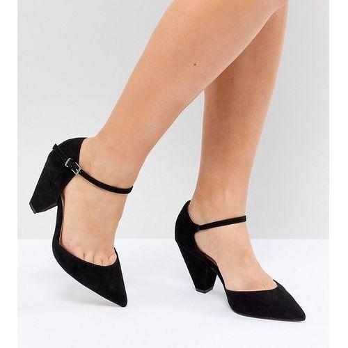 design speaker extra wide fit pointed heels - black, Asos