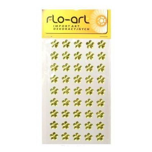 Samoprzylepne kryształki kwiatki 45 szt - żółte - ŻÓŁ