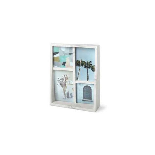 - ramka na zdjęcia edge - drewno naturalne - biały marki Umbra