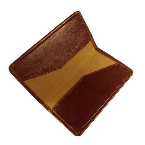Etui na wizytówki osobiste kw-42/2s wykonane ze skóry naturalnej - kolekcja classic marki Tomi ginaldi