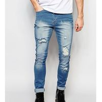 skinny extreme rips jeans in light stonewash - blue, Liquor n poker