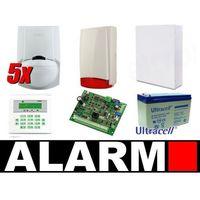 Zestaw alarmowy SATEL Integra 24, Klawiatura LCD, 5 czujek ruchu PET, sygnalizator zewnętrzny