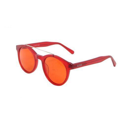 Okulary Przeciwsłoneczne Unisex Ocean Sunglasses 10200-16_TIBURON Czerwone, kolor żółty