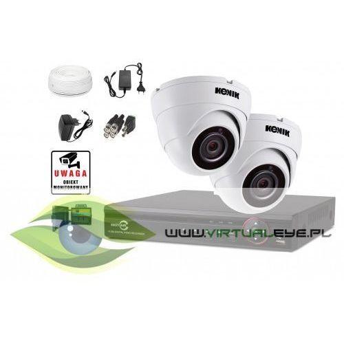Zestaw: rejestrator 5w1 gise gs-m1004fh + 2xkamera 4w1 kenik kg-512sfp4hd-w-bg marki Virtualeye