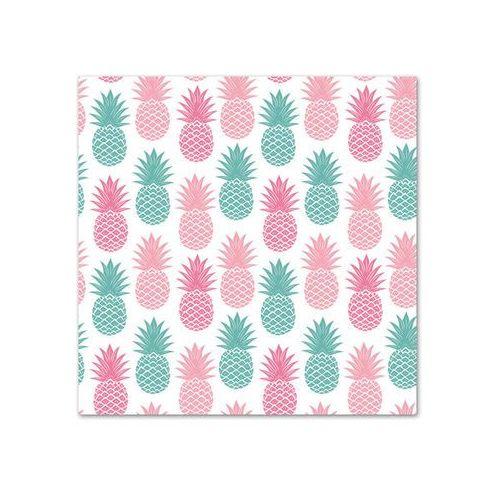 POL-MAK Serwetki 33 x 33 cm, 20 sztuk, Kolorowe ananasy (SDOG 014001) Darmowy odbiór w 21 miastach! (5901646022270)