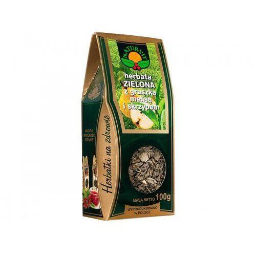 Natura-wita herbata zielona z gruszką, melisą i skrzypem 100g pudełko