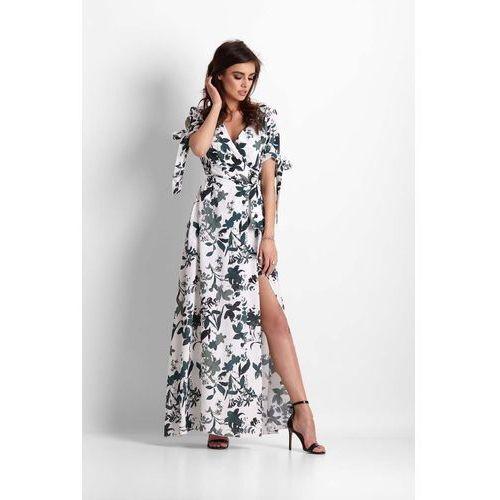 Zwiewna maxi kopertowa sukienka w kwiaty marki Ivon