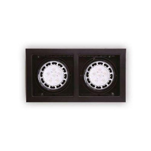 Wpust Regulowana LAMPA sufitowa MATRIX II H0049 Maxlight podtynkowa OPRAWA metalowa OCZKA wpust czarny, kolor Czarny