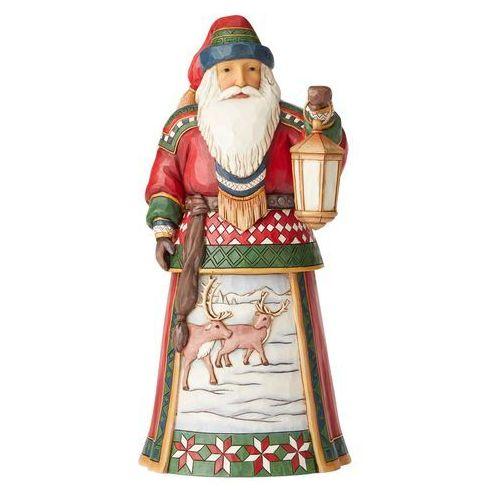 Jim shore Mkołaj z laponii zimowe błogosławieństwo blanketed in winter blessings 6004131 figurka ozdoba świąteczna