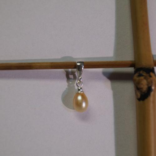 Wisiorek perła różowa PW27-1